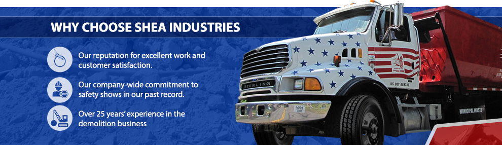 Throughout the years of Shea Industries' history, our company has built a reputation for excellent work and customer satisfaction.